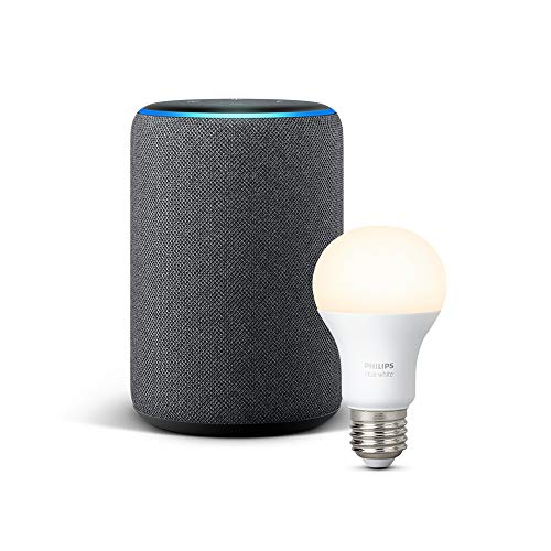 Echo Plus (2.ª generación), tela de color antracita + Philips Hue White...