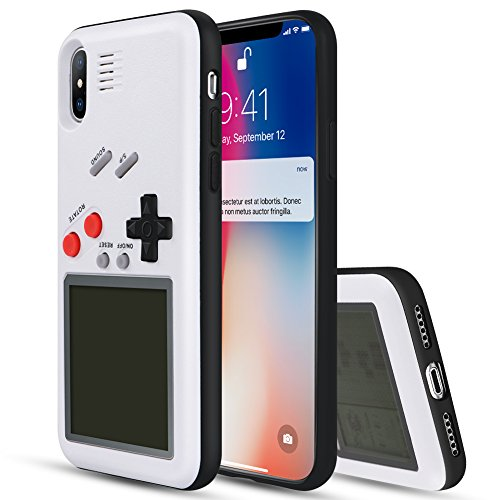 Yoedge: Funda Game Boy con Tetris para iPhone XS/X - Varios colores