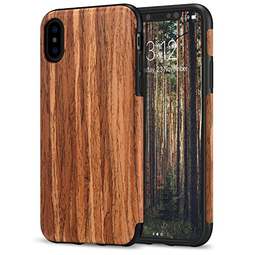Tendlin: Funda de TPU y madera para iPhone X/XS  - Varios colores