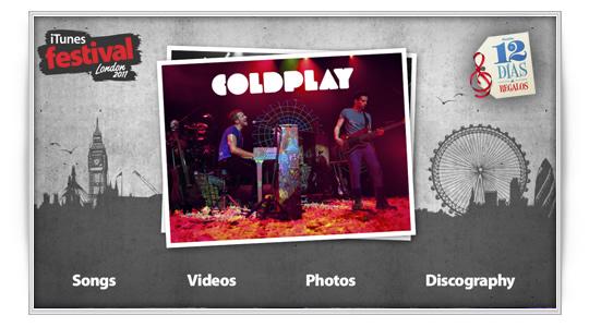 12 días de regalos Coldplay
