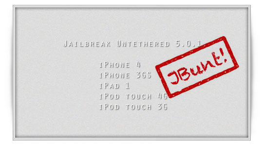 JailBreak iOS  5.0.1  untethered disponible redsn0w y corona