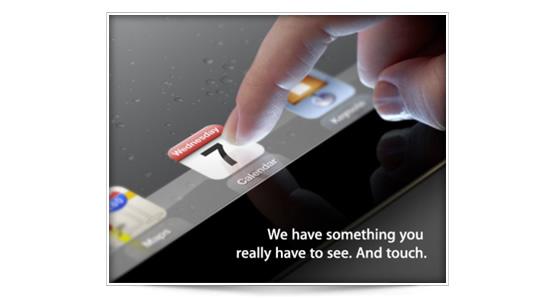 iPad 3 el 7 de Marzo confirmado