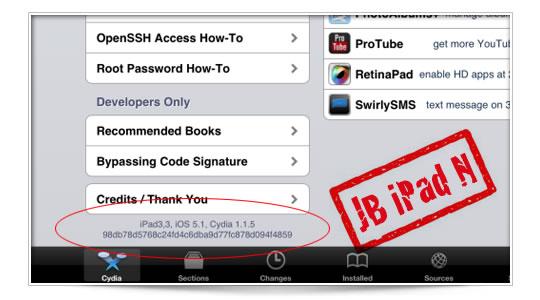 Jailbreak al iPad Nuevo por MuscleNerd