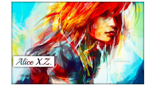 Offtopic: Alice XZ arte digital en estado puro