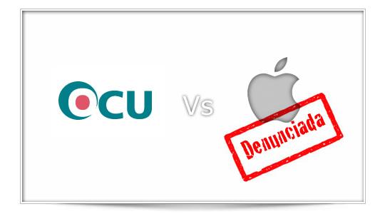 La OCU denuncia a Apple ante la Dirección General de Consumo