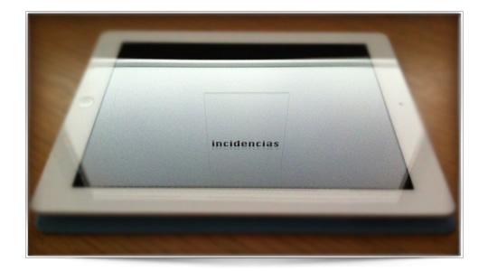Resumen de incidencias en el iPad N