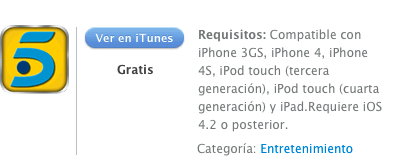 itunes 1TAPtelecinco