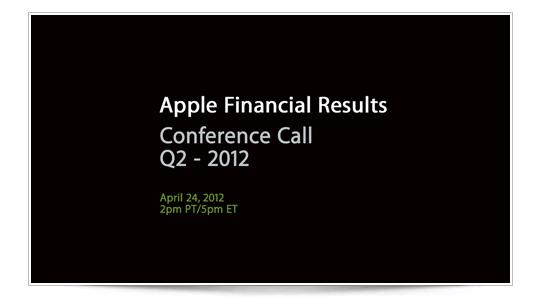 Recordatorio: Conference Call, esta noche