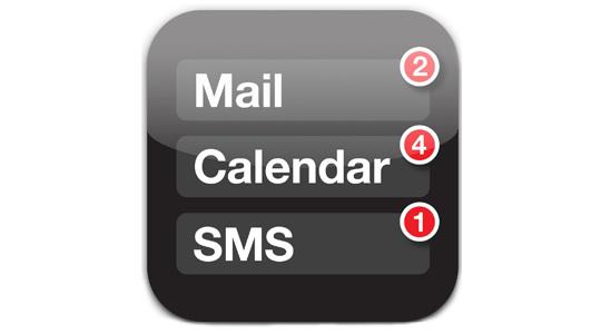 Nuevo icono de Mail, Calendario y SMS presentado en la OAMI