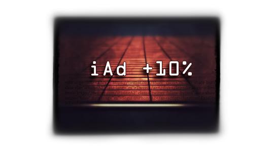 Los desarrolladores ingresarán +10% por iAd