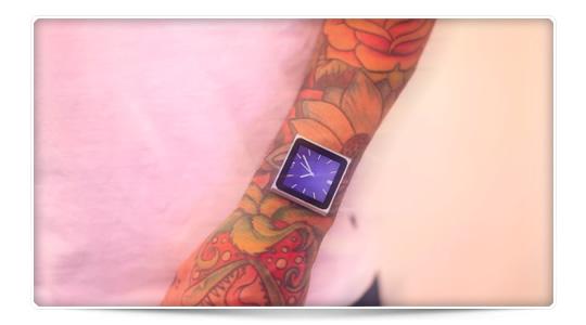 Un iPod pegado a la piel