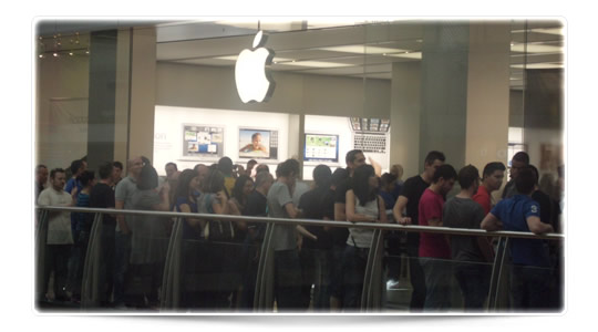 Apple Store Murcia cola
