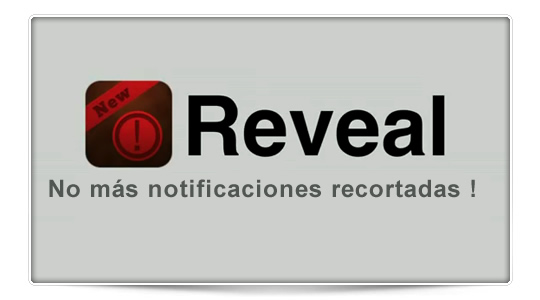 Reveal, notificaciones sin acortar texto