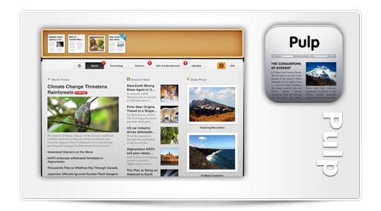 Pulp el lector de noticias para iPad se actualiza