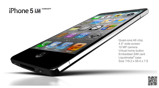 Nuevo concepto, iPhone 5 Liquid Metal
