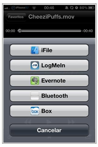 Dropbox exportar