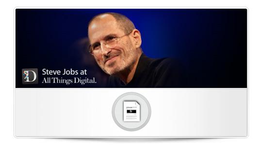 Las entrevistas de AllThingsD a S. Jobs, y su primer encuentro con el CEO de Oracle.