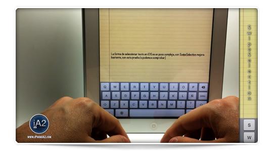 SwipeSelection, otra forma de seleccionar y editar  texto