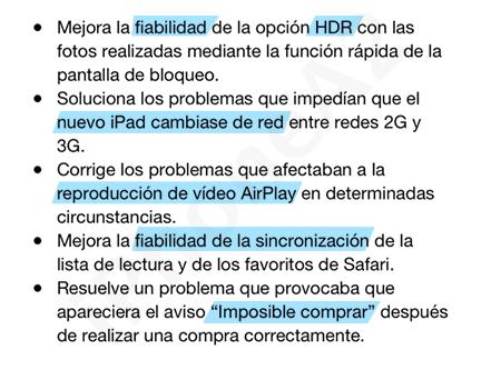iOS 5.1.1 Mejoras