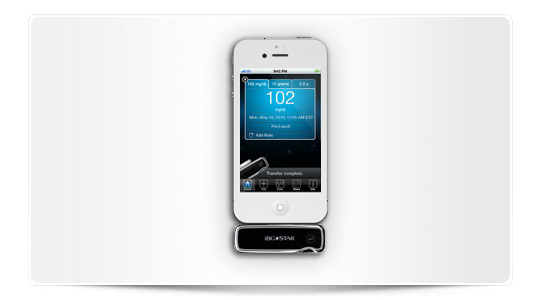 Medidor de glucosa para iPhone