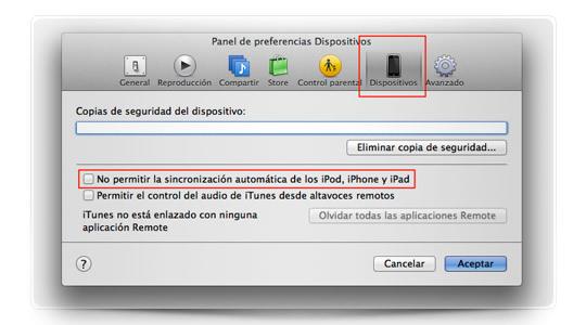 MiniConsejo: evita la sincronización automática con iTunes
