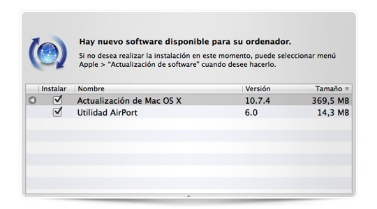 Apple acaba de lanzar OS X 10.7.4