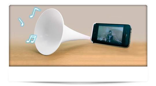 "Altavoz ""fonógrafo"" para tu iPhone"