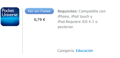 iTunes Pocket Universe