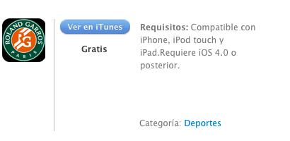 iTunes Roland-Garros