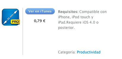 itunes My Measures and Dimensions Pro