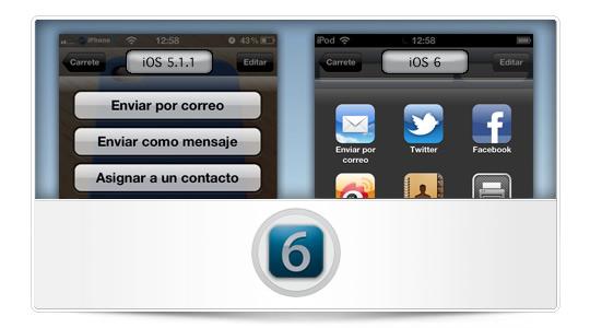 Características que no debemos dejar pasar en iOS 6