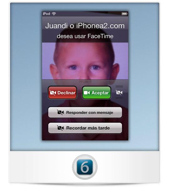 Cuadro dialogo llamada iOS 6
