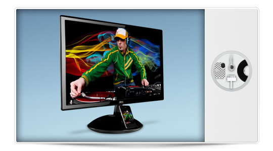 AOC Aire iPlay el nuevo monitor con dock para iPhone/iPod