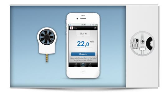 Shaka un medidor del viento para tu iPhone