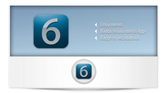Novedades iOS 6 – Emoji – nuevas Apps – Recordatorios con Badge