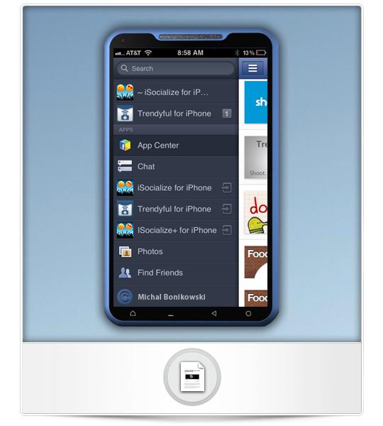 Teléfono facebook completo con App Center