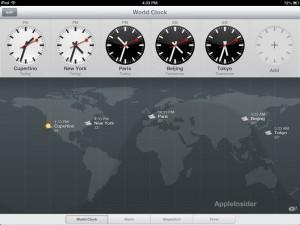 Reloj iPad iOS 6 - Reloj Mundial