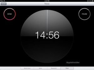 Reloj iPad iOS 6 - Temporizador