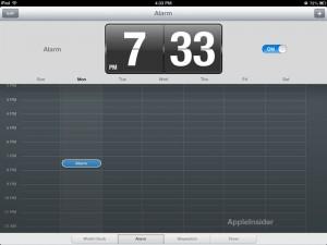 Reloj iPad iOS 6 - Alarma