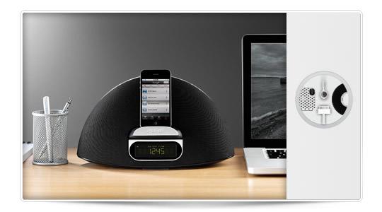 Contorno 100i Base para iPod/iPhone/iPad con radio FM