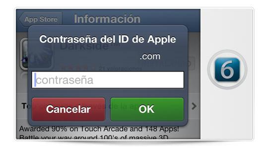 El nuevo iOS 6 no pedirá la contraseña para descargar apps gratuitas