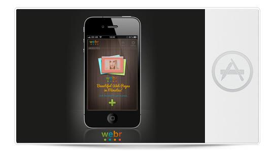Crear sitios web con tu iPhone en segundos con Webr