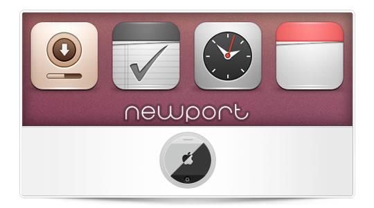 Newport para iPhone, elegante, limpio y sencillo