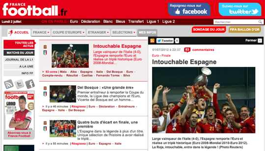 Euro - Finale - Intouchable Espagne - Francefootball.fr