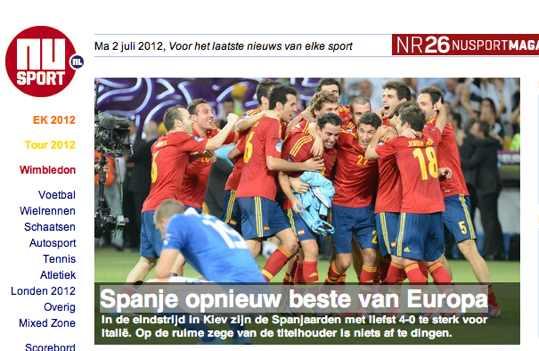 NUsport.nl España otra vez la mejor de europa