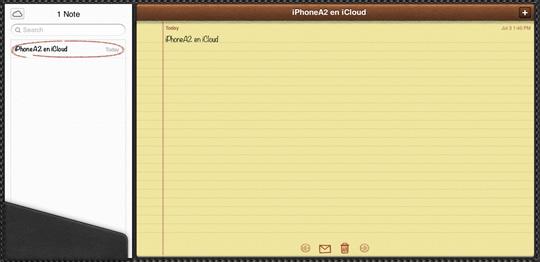 Notas iCloud