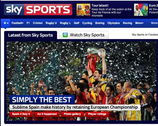 Sky Sports  Simply the best