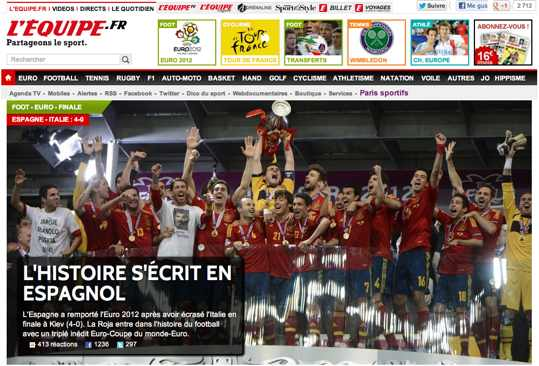 l'equipe españa campeona