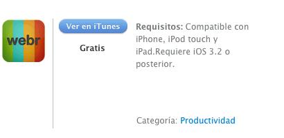 iTunes Webr