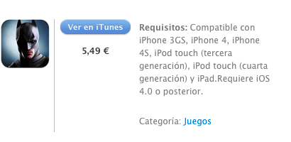 iTunes  The Dark Knight Rises